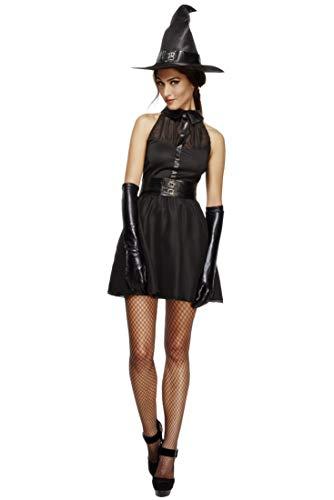 afte Hexe Kostüm, Kleid, Unterrock, Gürtel und Hut, Größe: S, 43502 ()
