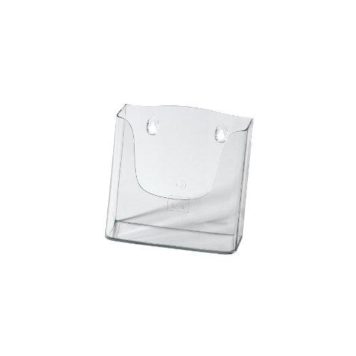 SIGEL LH116 Porta-folletos de pared acrylic, con 1 compartimento, Material acrílico, para A5, 1 unds