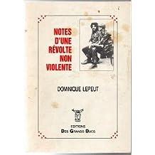 Notes d'une révolte non-violente