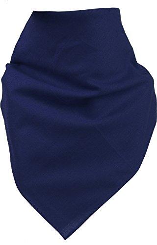 Harrys-Collection Bandana Bindetuch 100% Baumwolle 1 er 6 er oder 12 er Pack!, Farbe:uni marine (Baumwolle Marine Kleid)