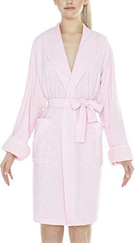 Lady-Mode Bademantel aus Baumwolle Mandy (XS �?2XL) Rosa