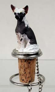 Chinese Crested Bottle Stopper -