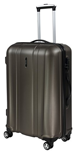 ABS Koffer Nossi Größe XL Farbe Bronze ABS Hartschale Reisekoffer Trolley Case Fa. Bowatex (Leder Trolley-case)