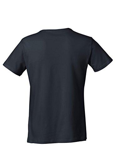 Everbasics Herren T-Shirt Sydney V-Ausschnitt - Funktionsshirt für tagelanges Tragen ohne Waschen - in Vielen Farben Erhältlich! Schwarz