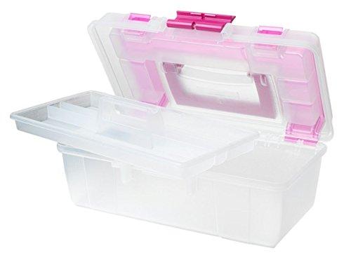 Creative Options Kunststoff Tool Box organizer-13-inch X 19,1cm x 12,7cm klar W/Magenta (Organizer-tool-box)