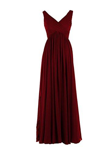 YiYaDawn -  Vestito  - stile impero - Donna rosso vivo