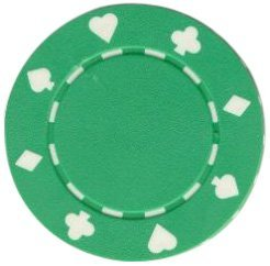 Trademark Poker Suited Chips (Set of 50), 8gm, Green by Trademark Poker