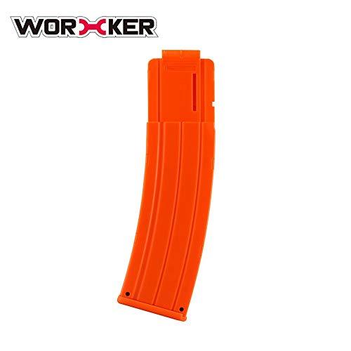 Preisvergleich Produktbild WORKER 22 Kugeln Modell Kurve Weiche Kugel Clip Munition Patrone Dart Clip für Nerf Spielzeugpistole Patrone Halter Magazin Clip