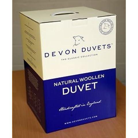 Devon Duvets - Piumino in lana naturale britannica, per autunno/primavera, peso: 600 g/m² (letto matrimoniale, 135 x 200 cm)