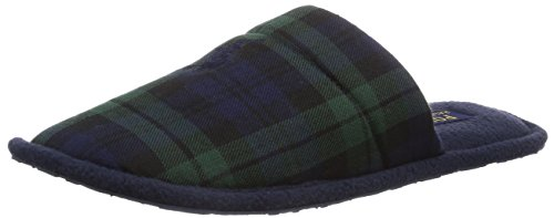 Polo Ralph Lauren Men's Colten Scuff, Herren Pantoffeln, Blau (Navy blackwatch plaid wool), 45 (Ralph Lauren Polo Hausschuhe)