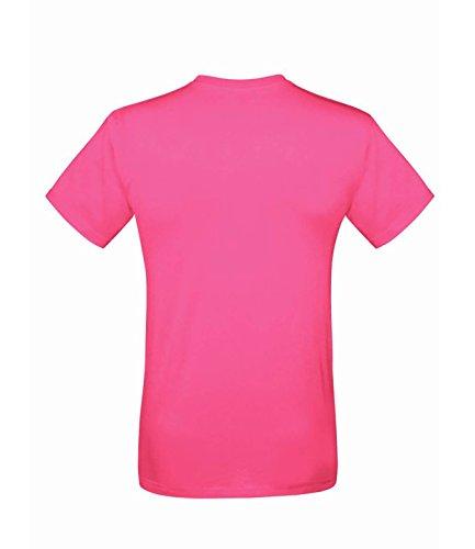 10er Pack Fruit of the Loom Men´s Sofspun® T-Shirt Crew Neck TShirt Herren S-3XL Fuchsia