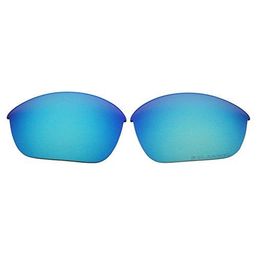 COODY Ersatz Polarisierte Gläser für Oakley Half Jacket 2.0Sonnenbrille OO9144(Nicht Fit Half Jacket 2.0XL, Half Jacket Xlj), Unisex, Ice Blue Mirror