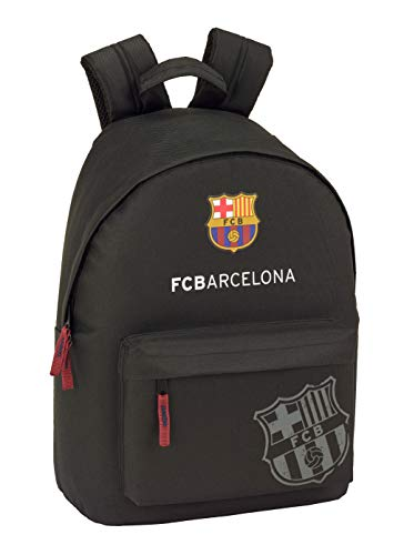 FC Barcelona Black Oficial Mochila Juvenil Para Portátil