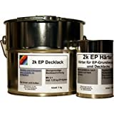2k Epoxy Decklack 6,25 kg incl. 1,25 kg Härter, Lackfarbe, RAL 7016 Anthrazitgrau glänzend
