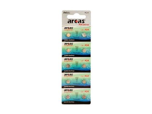 Preisvergleich Produktbild Batterie Arcas Knopfzelle AG4 (10 Stk)