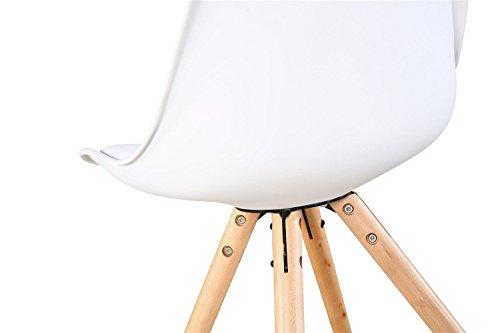 Sedie Bianche E Legno : Duehome artic set di 4 sedie tower colore bianco e legno di
