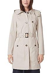 s.Oliver RED Label Damen Trenchcoat mit Kapuze und Koller Cotton 46