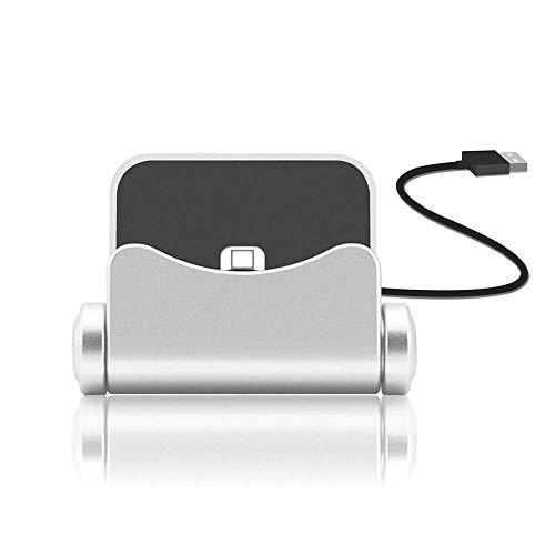 KOBWA iPhone Ladestation Station, Lightning Desktop Dock Ladestation Dock Station Kompatibel iPhone X / 8/8 Plus / 7/7 Plus / 6/6 Plus / 6 s / 6 s Plus / 5 / SE, iPad Mini, iPod Touch (Ipod Dock Station)