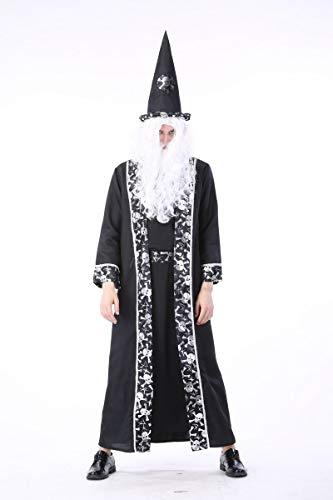 Simmia Halloween Kostüm,Halloween Kostüm Todesgott Gericht Arabische Kostüm Vampir, Männer, ()
