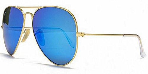 Ray Ban RB3025 Geld Blau Mirror Unisex Sonnenbrille Aviator Sunglasses 58mm