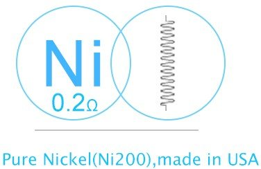 eGo ONE CL atomizer head-Nickel 0.2 ohm (5 Stück)Verdampferkopf für Joyetech eGo, eGrip und eVic VT Serie Elektrozigaretten von Joyetech
