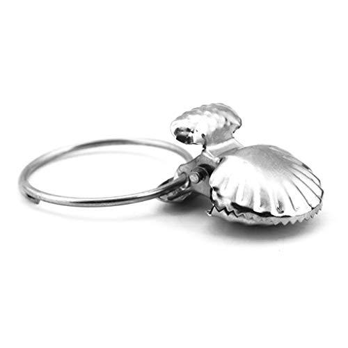 fish 6Pcs / Set Edelstahl Seashell Vorhang Clip Socken Bra Snacks Lebensmittel Tasche Vorhang Klemmringe