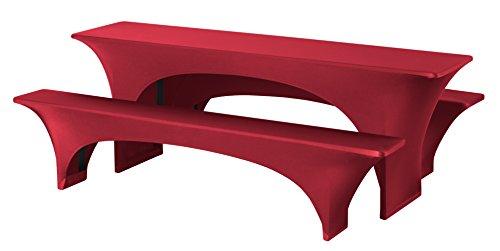 Dena 022510 Hussen-Set Stretch Fortune für Festzeltgarnitur, 90% Polyester -10% Elasthane, 220 x 70...
