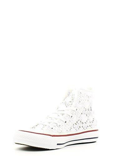 Converse 552998c, Chuck Taylor Hi Crochet femme Bianco