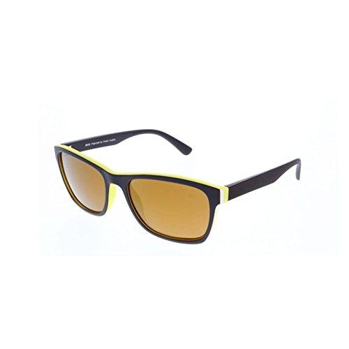 7160da9819 H.I.S gafas de sol polarizadas de plástico HP 58119, amarillo, oro espejo  marrón,