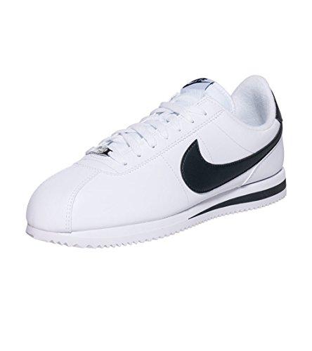 Nike  Cortez Basic, Herren Sneaker schwarz schwarz, weiß - White/Black-metallc Silver - Größe: 39 EU (M) (Casual Leder Schuh Basic)