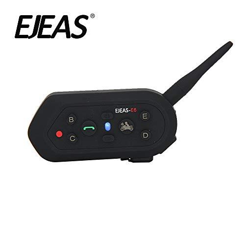 EJEAS® E6 Casco de Motocicleta Con Auriculares de Intercomunicador Inalámbrico para Seis Personas 1200m VOX Bluetooth MP3 GPS con Programa de Conexión Actualizable