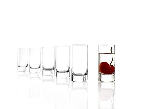 Stölzle Lausitz New York Bar Schnapsglas, 57ml, Set mit 6Schnapsgläsern, spülmaschinenfest, bleifrei, hochwertig