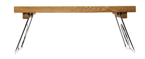 5016119 Oval Oak Bett-Tablett mit Einklappbaren Beinen, Holz, braun, 50 x 30 x 24,5 cm