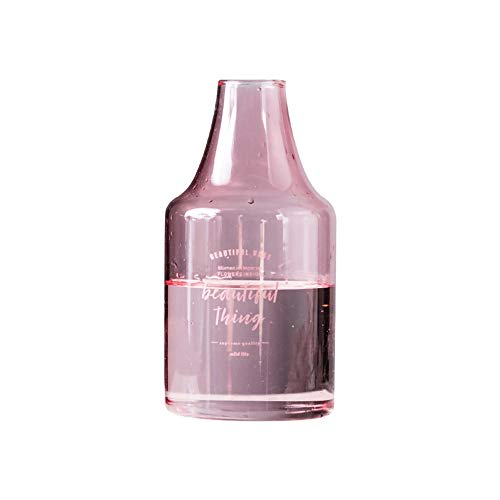 SUXLB Glasvase Vasen, mundgeblasen Kunst-Vase/Knospen-Vase, Weihnachtsdekoration, für Zuhause, Hochzeit, Mini-Vase oder Geschenk/Tafelaufsatz Vasen für den Tisch, Pink