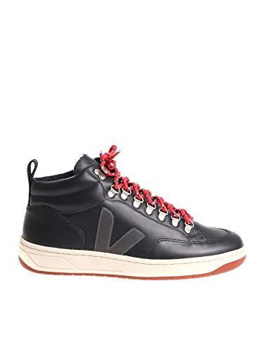 VEJA Homme Qbm020311 Noir Cuir Baskets Montantes