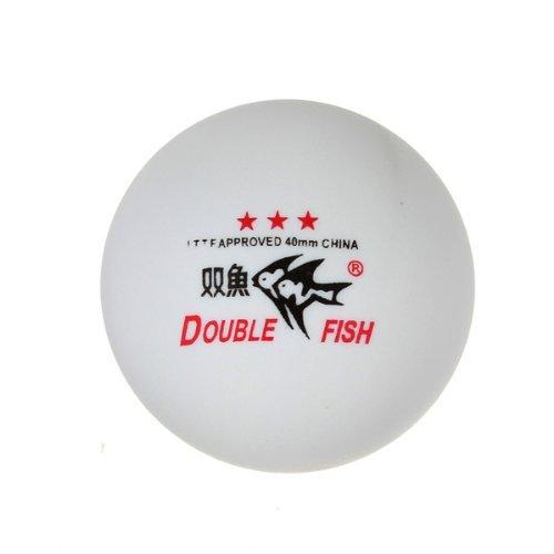 waygo 3Double Fish ITTF zugelassen Sterne Tischtennisbälle 40mm für Match (weiß)