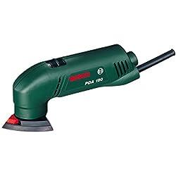 """Bosch Ponceuse Delta """"Easy"""" PDA 180 avec 3 feuilles abrasives 0603339003"""