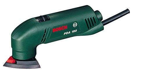 Bosch Ponceuse Delta Easy PDA 180 avec 3 feuilles abrasives 0603339003
