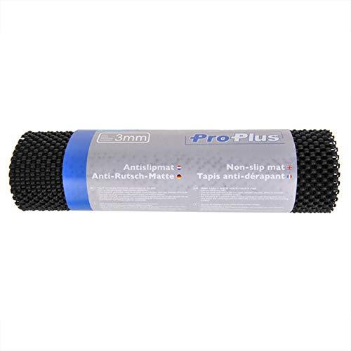 Anti Rutschmatte 3 TEILIG SET schwarz 150x30cm Gleitschutz Werkzeugeinlage 3mm Stärke Teppich Rutschstopper zuschneidbar Anti-Rutsch-Unterlage