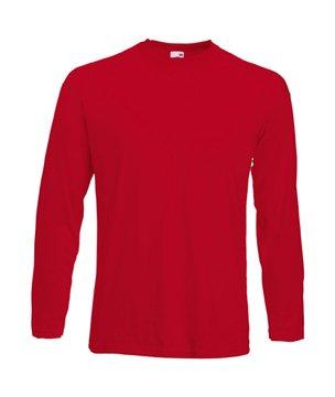 Fruit of the Loom Herren Langarm T-Shirt 61-038-0 Red L