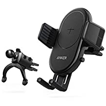 Anker PowerWave Fast Wireless Car Charger with Air Vent Phone Holder, Qi Certified, 7.5W Compatible iPhone XR/XS Max/XS/X/8 Plus, 10W for Galaxy S10/S9/S9+, and 5W for All Qi-Enabled Phones (Renewed)