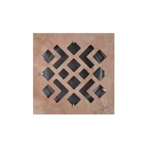 First Plast - Grille de ventilation céramique - Grille ventilation carrée céramique 200x200 - MIMOSA - Grès terre cuite - A encastrer