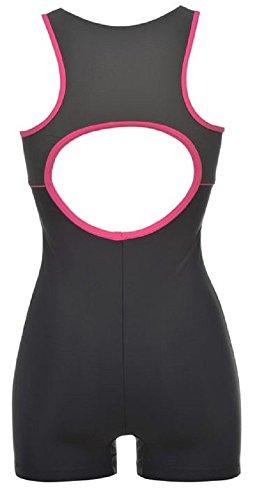 Slazenger Damen-Badeanzug/Schwimmanzug, langes Bein, Triathlon Mehrfarbig - navy / charcoal