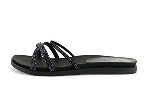 JEANNOT sandali donna 41 EU nero tessuto strass AG435