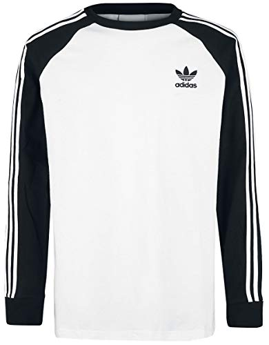 new concept 558cf 60f25 adidas 3-Stripes T- T-Shirt Homme, Blanc, Noir, FR
