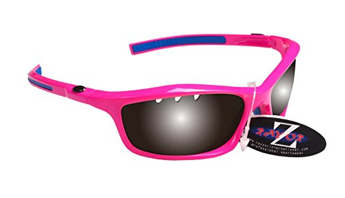 RayZor Professional leichte UV400Pink Sports Wrap Cricket Sonnenbrille, mit Einem belüfteten Smoked gespiegeltem blendfreiem Objektiv