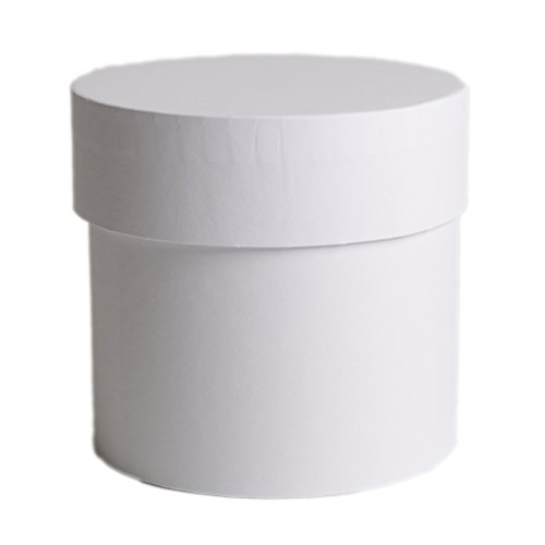 Celebration Runde Box Geschenkebox mit Deckel 150 x 200 mm Flower Box Weiß Runde Box