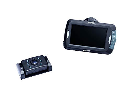 Pro-User DRC4310 20123 Digitales Funk-Rückfahrkamerasystem für 12V und 24V Systeme mit 4.3 Zoll Monitor und Nachtsichtkamera ohne Signalstörungen