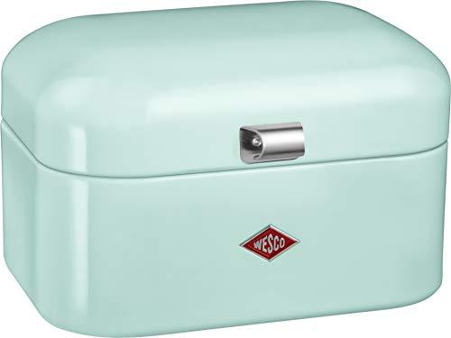 Wesco Single Grandy Aufbewahrungsbehälter, Mint Brotkasten, Metall, 26 x 18 x 27.5 cm