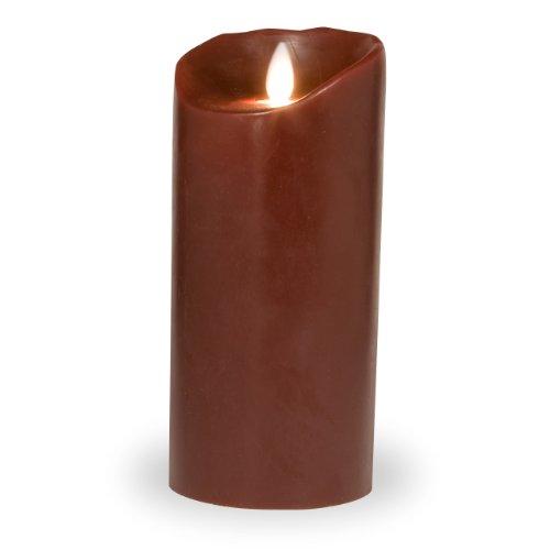 LED-Kerze bordeaux 8x18cm